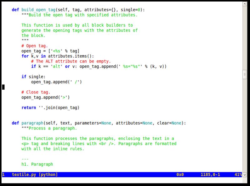 Просто о Vim  Редактор для программистов