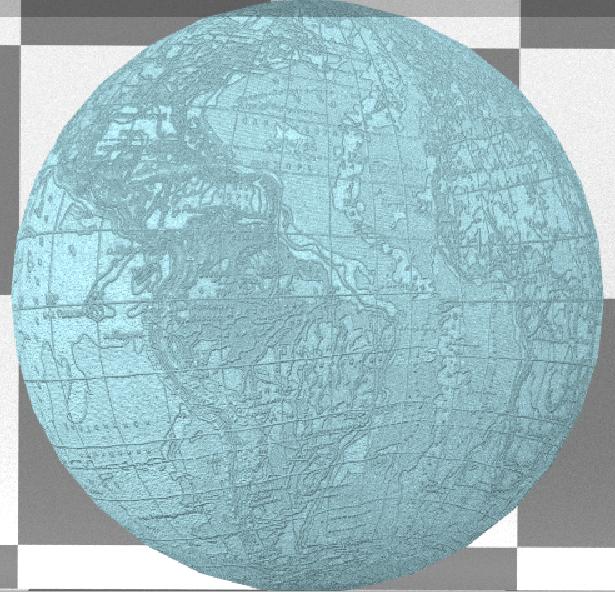 Текстура-изображение на сфере