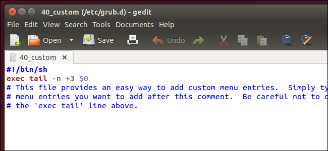 Создание элемента меню системного загрузчика GRUB2
