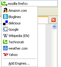 Firefox Search Engines