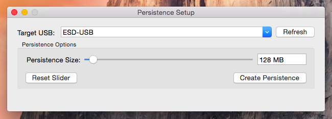 Persistence Size