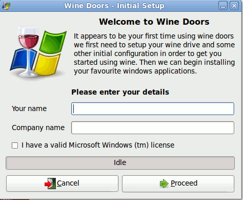 Wine-Doors - установка Windows программ на Linux, рис.1