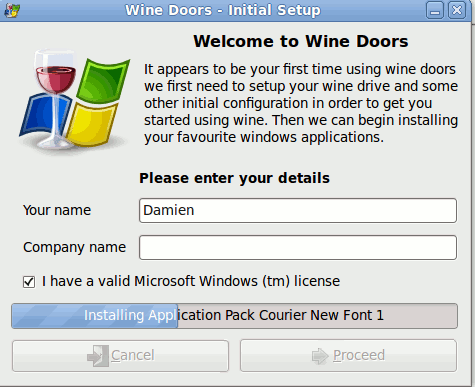 Wine-Doors - установка Windows программ на Linux, рис.2
