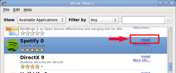 Wine-Doors - установка Windows программ на Linux, рис.5