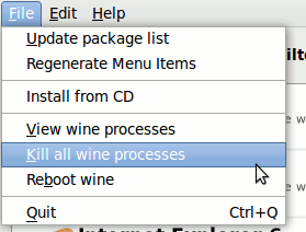 Wine-Doors - установка Windows программ на Linux, рис.8