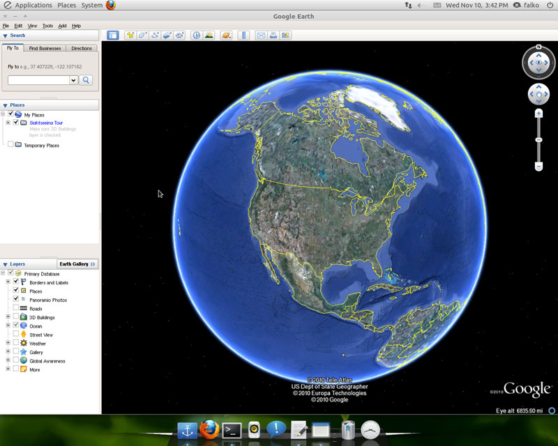 Google Earth, снимок 2