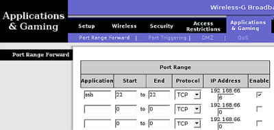 Port forwarding