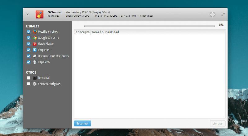 GCleaner для Ubuntu