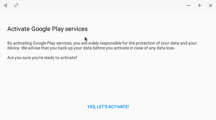 Play activator
