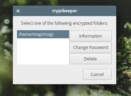 удаление папки или смена пароля