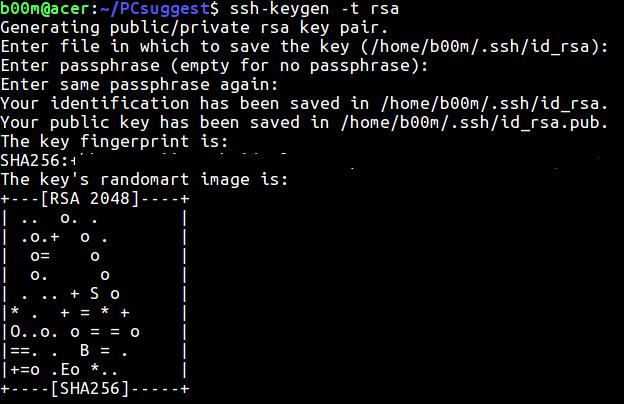 генерация ключей для беспарольного доступа по ssh