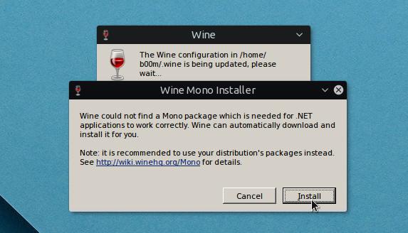 установка зависимостей wine в ubuntu